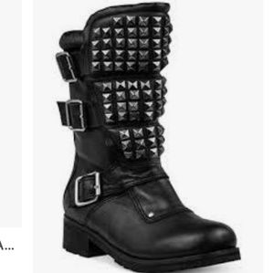 Modern Vice Angels Studded Leather Boots